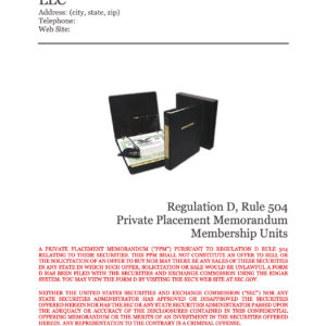Rule 504 LLC Equity