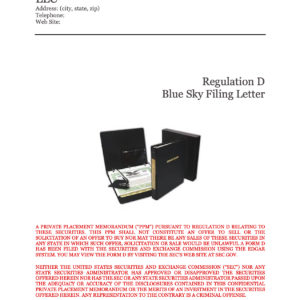 LLC Blue Sky Filing Letter